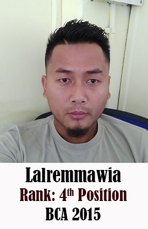 Lalremmawia, 4th Rank, Computer Science, 2015