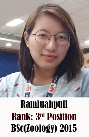 Ramluahpuii, 3rd Rank, Zoology, 2015