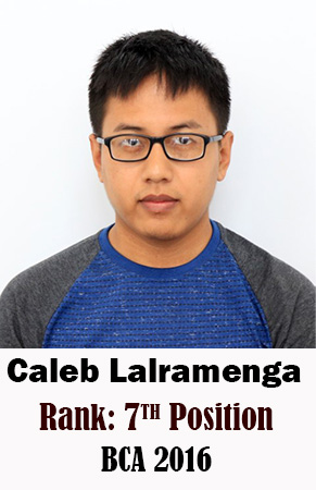 Caleb Lalramenga, 7th Rank, Computer Science, 2016