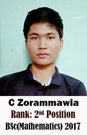 C Zorammawia, 2nd Rank, Mathematics, 2017