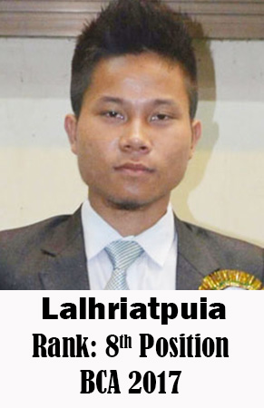 Lalhriatpuia, 8th Rank, Computer Science, 2017