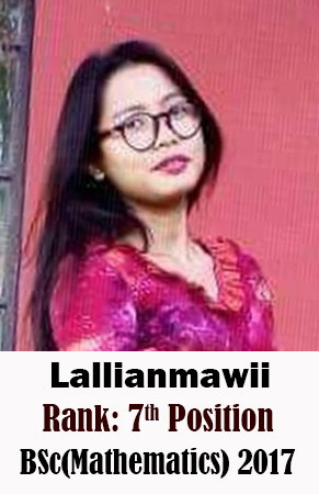 Lallianmawii, 7th Rank, Mathematics, 2017