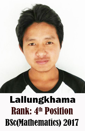 Lallungkhama, 4th Rank, Mathematics, 2017