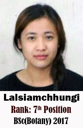 Lalsiamchhungi, 7th Rank, Botany, 2017