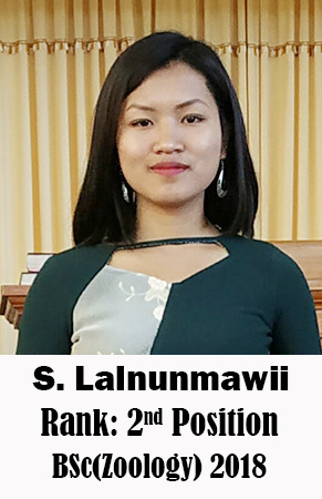 S Lalnunmawii, 2nd Rank, Zoology, 2018
