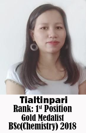 Tialtinpari, 1st Rank, Chemistry, 2018