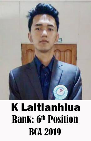 K Laltlanhlua, 6th Rank, Computer Science, 2019