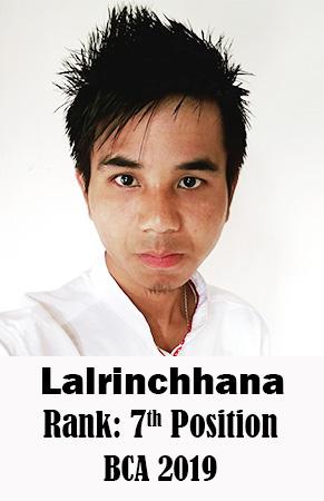 Lalrinchhana, 7th Rank, Computer Science, 2019