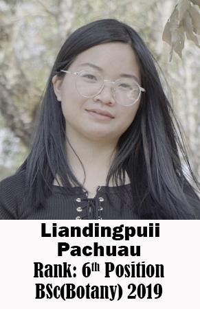 Liandingpuii Pachuau, 6th Rank, Botany, 2019